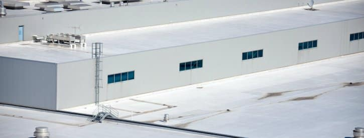 roof of a warehouse