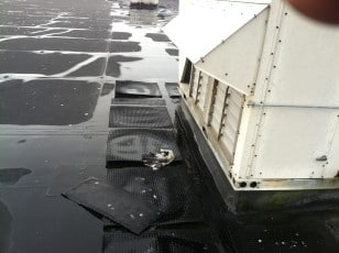 water on the roof